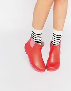 image 1 call it spring henrion bottines en caoutchouc rouge