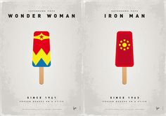 Superhero Ice Pops by Chung Kong (Wonder Woman & Iron Man)
