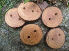 Cherry Tree Branch Buttons Perfect Accessory by TimberWoodsWares on etsy.
