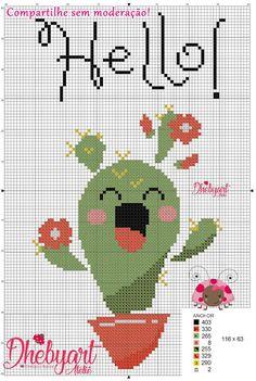 Cross Stitching, Cross Stitch Embroidery, Embroidery Patterns, Cross Stitch Patterns, Quilt Patterns, Cactus Cross Stitch, Cute Cross Stitch, Cross Stitch Alphabet, Pixel Crochet