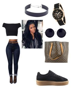 """Untitled #222"" by tmonea on Polyvore featuring Michael Kors, Puma, Louis Vuitton, Jennifer Zeuner, Marc Jacobs and The Row"