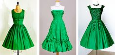1950s Prom and Party Dresses (the one on the far right might be my favorite dress of all time!)