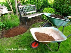 How to make your own mulch and edge your flowerbeds via FunkyJunkInteriors.net