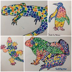 al estilo de Gaudi Animales al estilo de Gaudi.Animales al estilo de Gaudi. Art For Kids, Crafts For Kids, Arts And Crafts, Kids Diy, Spanish Art, Art En Ligne, Art Brut, Preschool Art, Art Plastique