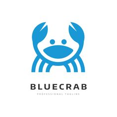 Exclusive logo of a stylized circular blue crab. This awesome logo will be perfect for your company or project ! All neccessary files are included (Illustrator and Photoshop). Winery Logo, Animal Logo, Name Cards, Cool Logo, Knives, Photoshop, Logos, Illustration, Blue