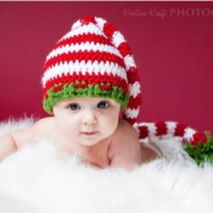 Crocheted Christmas Baby Hat