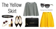 """Stylish Yellow"" by visiondirect ❤ liked on Polyvore featuring Gucci, H&M, Jimmy Choo, Tom Ford, Cara and MICHAEL Michael Kors"