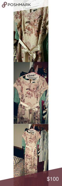Floral maxi dress A beautiful Cream-blush pink Adrianna Papell maxi formal dress Adrianna Papell Dresses Maxi