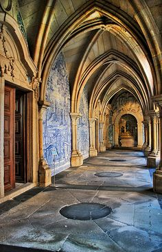 "Portugal - Porto - Cloisters of the ""Sé""  by _madmarx_ I'd Like to go to Portugal"