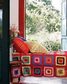 via revista Casa e Jardim - crochet