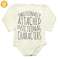 Emotionally Attached to Fictional Characters Slogan Baby Long Sleeve Romper Bodysuit XX-Large - Baby bodys baby einteiler baby stampler (*Partner-Link)