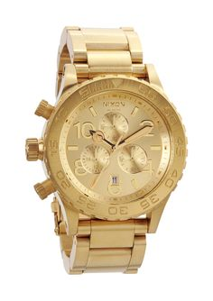 Nixon's  51-30 Chrono (gold!): great over the top watch.