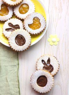 Biscuits sablés fourrés au chocolat & lemon curd