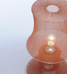 Close up of a Knitted Lamp