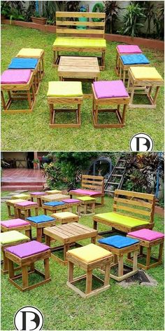 To add your garden outdoor with the impressive flavors of designing, choosing the use of pallet into the garden furniture artwork concept is the best alternative. This furniture outdoor setting coverage will look even extra mind-blowing by bringing it the taste of stools and bench plus center table piece. #palletfurniture #palletoutdoorfurniture