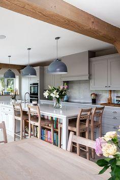 Living Room Kitchen, Home Decor Kitchen, Kitchen Interior, Home Kitchens, Kitchen Design, Kitchen Ideas, Big Kitchen, Kitchen Inspiration, Living Rooms