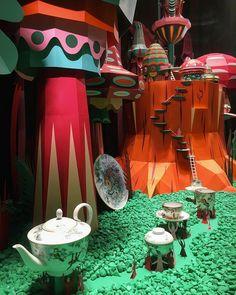 """Forest Folks"" window displays for Hermès by Zim&Zou Zou, Paper Chandelier, Paper Installation, D House, Alice, Paper Artwork, Christmas Illustration, Window Design, Pretty Art"
