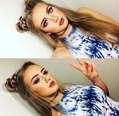 I love the tye dye idea ! That would be super awesome ! Do you guys have any tank tops like this that I could try ? Raves, Hair Day, Your Hair, Festival Makeup, Music Festival Hair, Music Festivals, Concerts, Rave Hair, Beauty Makeup