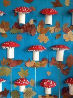 Cool mushroom art for kids Kids Crafts, Fall Crafts For Kids, Toddler Crafts, Art For Kids, Diy And Crafts, Arts And Crafts, Bear Crafts, Thanksgiving Activities, Autumn Activities