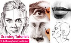 30 Best Drawing Tutorials - Learn Drawing Techniques from Masters. Read full article: http://webneel.com/drawing-tutorials | more http://webneel.com/drawings | Follow us www.pinterest.com/webneel