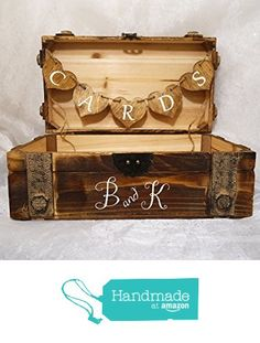 Personalized Vintage Wooden Card Box, Rustic Vintage Look Card Box, Wedding Card Box, Cedar Lined Card Box, Card Box, Wedding Card Trunk from Crafty Witches Decor / Rustic Sugar Creek Co. https://www.amazon.com/dp/B01FV6TZTO/ref=hnd_sw_r_pi_dp_FYDfzb91KD2NQ #handmadeatamazon