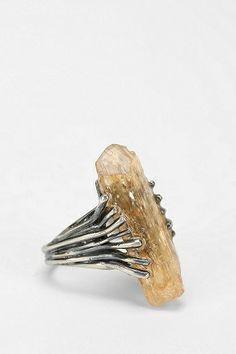 $198.00 Adorn By Sarah Lewis Topaz Talon Ring  http://www.variied.com/products/adorn-sarah-lewis-topaz-talon-ring/  #AdornBySarahLewis  #Topaz #Ring #urbanjewerly  #jewelry