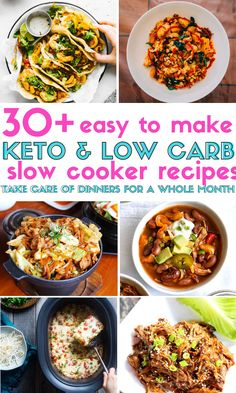31 Keto & Low Carb Slow Cooker Recipes To Make For Your Family Tonight! These recipes that can be made in crock pots and they contain chicken, turkey, beef and pork. Easy keto crockpot meals are quick to prepare and can be set and forget! Crock Pot Recipes, Keto Crockpot Recipes, Ketogenic Recipes, Slow Cooker Recipes, Crock Pots, Crockpot Meals, Ketogenic Diet, Slow Cooker Huhn, Low Carb Slow Cooker