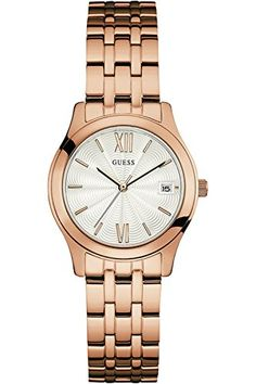 GUESS W0769L3,Ladies Dress,Stainless Steel,Rose Gold-Tone,Crystal Accented Bezel,30m WR * Be sure to check out this awesome product.