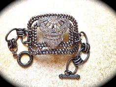 Vintage shoe buckle cuff bracelet by JNPVintageJewelry on Etsy, $155.00
