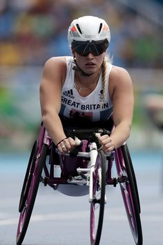 Samantha Kinghorn of Great Britain in action during the Women's 400 meter T53 Roud 1 on day 3 of the Rio 2016 Paralympic Games at  on September 10, 2016 in Rio de Janeiro, Brazil.