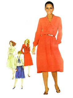 Retro 1981 Simplicity 5166 Misses' Softly by OakeyCreekVintage