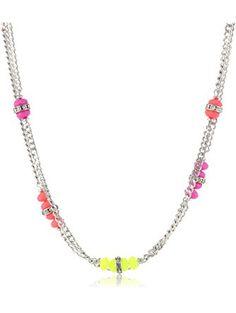 "Steve Madden Multi-Colored Faceted Bead Long Necklace, 37"" ❤ Steve Madden"