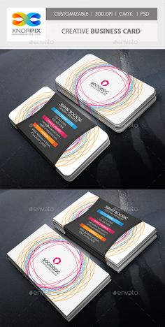 Creative Business Card — Photoshop PSD #painter #future • Available here → https://graphicriver.net/item/creative-business-card/13620757?ref=pxcr