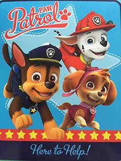 NIck Jr Paw Patrol Here to Help 40x50 Silky Soft throw *** To view further for this item, visit the image link.
