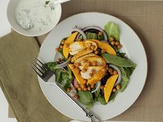 Tandoori Chicken Salad with Crisp Chickpeas and Mango