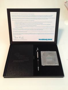NASDAQ paper weight, pen, and notepad...perfect for your office
