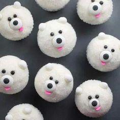 Cup cakes de osito polar