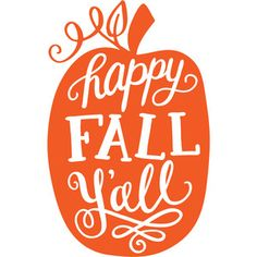 Happy Fall Y'all word art lettering in a pumpkin shape. Purchase this as an SVG bundle in the Silhouette Design Store!