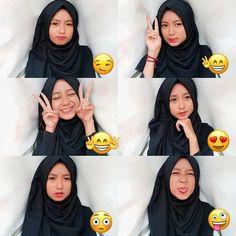 Casual Hijab Outfit, Ootd Hijab, Girl Hijab, Hijab Chic, Modern Hijab Fashion, Ulzzang Fashion, Ulzzang Girl, Selfies, Selfie Poses
