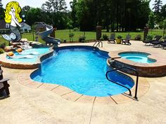 After a long week of rainy weather the sun is finally out in full force! Soak up this beautiful weather with a refreshing in a Tallman pool ideas Moroccan - Lagoon Fiberglass Swimming Pools Small Backyard Pools, Backyard Pool Landscaping, Backyard Pool Designs, Swimming Pools Backyard, Outdoor Pool, Outdoor Ideas, Backyard Pergola, Backyard Ideas, Outdoor Spaces