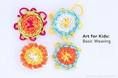 Kids basic weaving techniques for kids art via Babble Dabble Do! BabbleDabbleDo.com :D Best artsy momma blog! #BabbleDabbleDo #KidsArt2014 #Kids