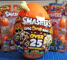 The newest release from Zuru Toys is the Smashers Epic Dino Egg. This gigantic surprise-filled dinosaur egg has been flying off the shelves . Dino Eggs, Dinosaur Eggs, Pretty Tough, Falling Apart, Giveaway, Goodies, September, Christmas Gifts, Toy