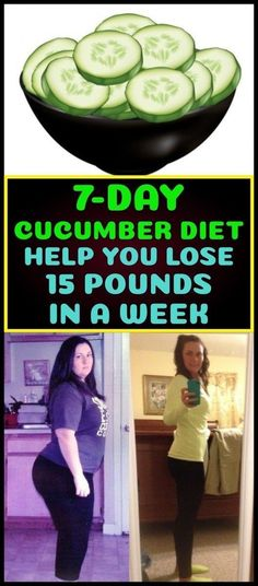 Cucumber Diet Help You Lose 15 Pounds In a Week - Health And Nutrition Lose 15 Pounds, Losing 10 Pounds, Healthy Diet Plans, Diet Meal Plans, Healthy Tips, Healthy Detox, Healthy Smoothies, Smoothie Recipes, Healthy Meals
