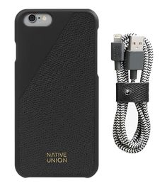 Leather Edition Set Luxury leather case and premium cable for iPhone Upgrade your everyday carry Leather Edition Set pairs luxury versions of our signature CLIC Case and BELT Cable. Your essential kit