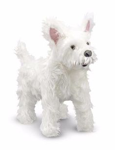 Perro Raza West Highland Terrier De Peluche Tamaño Real - $ 350.00 en MercadoLibre