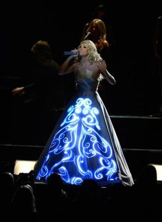 Carrie Underwood's Grammy Tech Dress [click for animated GIFs]