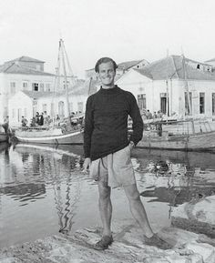Patrick Leigh Fermor in Ithaca in taken by Joan Leigh Fermor. National Library of Scotland © Joan Leigh Fermor Estate Old Photos, Vintage Photos, Patrick Leigh Fermor, Second World, Vietnam Travel, Travelogue, Crete, Athens, The Great Outdoors