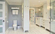 center column, divider for toilet