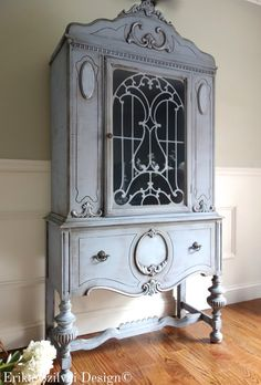 SOLD!!! CUSTOM FINISH for Anh & Corey - Antique Jacobean Hand Painted Cottage…