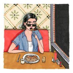 Artist Sally Nixon's Illustrations Show Women's Lives Unglamorized & Uncensored